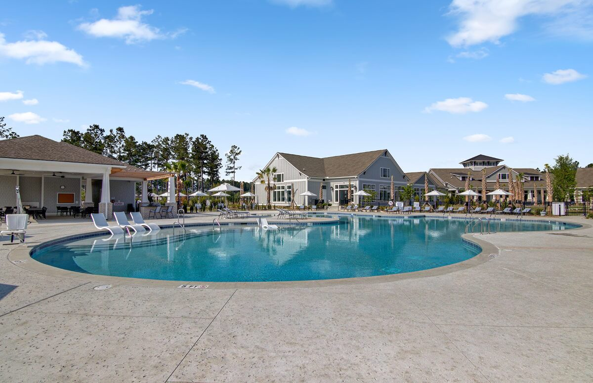 Four Seasons at Lakes of Cane Bay Outdoor pool and clubhouse