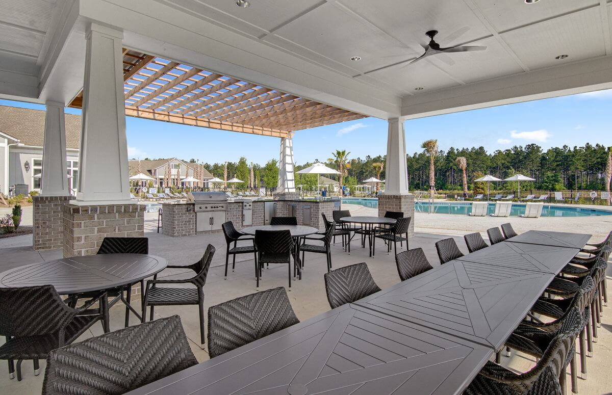 Four Seasons at Lakes of Cane Bay Outdoor Dining by the Pool