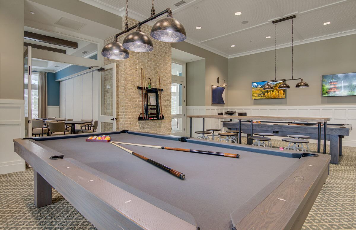 Four Seasons at Lakes of Cane Bay Clubhouse Pool Tables